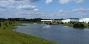 Business Park with Pond