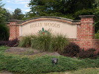 Holly Woods Entrance Sign